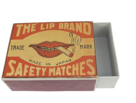 Opbergdoos vorm Luciferdoos Lippen Vintage 21,5 x 16,5 x 7,5 cm   SA114811   Sarana Fairtrade