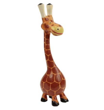 Giraf hout met buik xl 49 x 12 x 11 cm   SA125480   Sarana Fairtrade