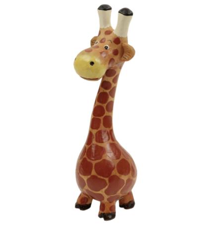 Giraf hout met buik M 18 x 7 x 6 cm   SA125503   Sarana Fairtrade