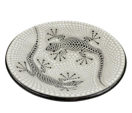Schaal gekko stippen M 26 x 26 x 7 cm  SA130040   Sarana Fairtrade