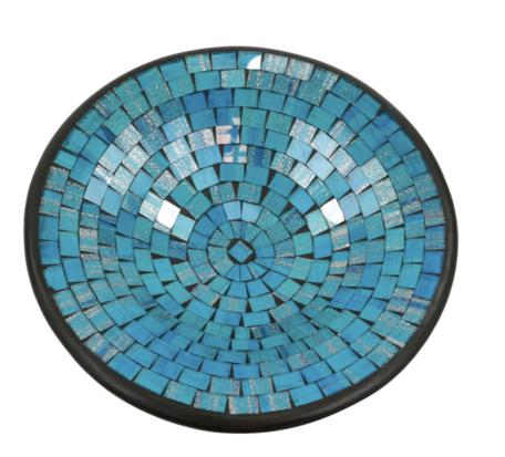 Schaal mozaiek blauw XL 36 x 36 x 10 cm   SA131948   Sarana Fairtrade