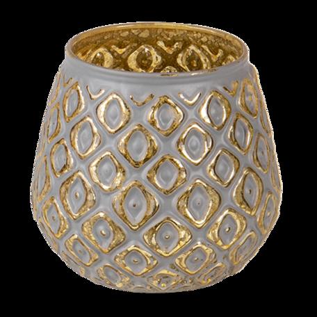 Waxinelichthouder ø 9*8 cm Grijs | 6GL3246 | Clayre & Eef