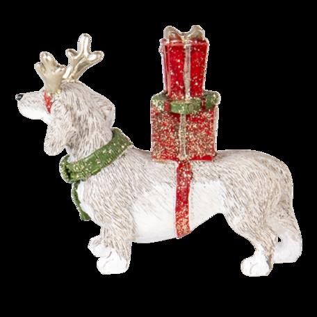 Decoratie hond 9*3*8 cm Multi | 6PR4603 | Clayre & Eef