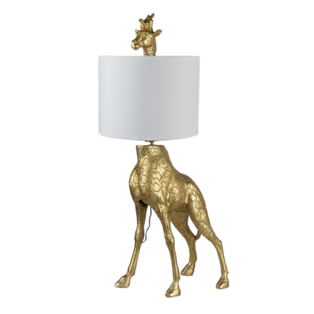 Tafellamp giraf 39*28*76 cm E27/max 1*60W Goudkleurig   5LMC0013   Clayre & Eef