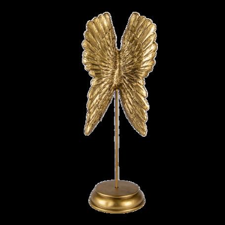 Decoratie vleugels 16*12*40 cm Goudkleurig | 6PR4692 | Clayre & Eef
