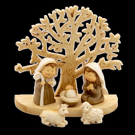 Kerstgroep 11*5*10 cm Bruin | 6PR4743 | Clayre & Eef