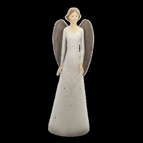 Decoratie engel 15*13*47 cm Wit | 6PR4744 | Clayre & Eef