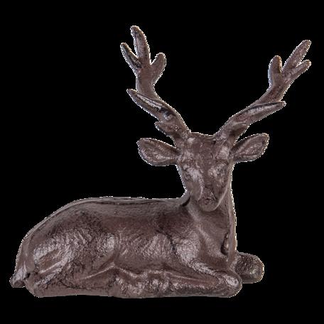 Decoratie rendier 15*9*15 cm Bruin | 6Y4320 | Clayre & Eef