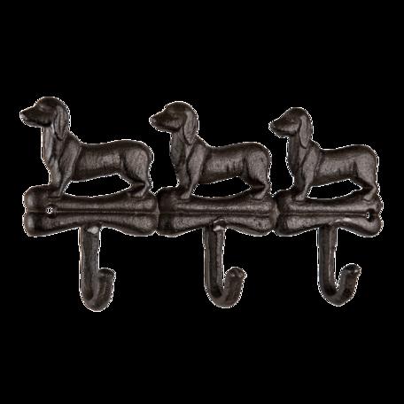Kapstok honden 29*4*15 cm Bruin   6Y4559   Clayre & Eef