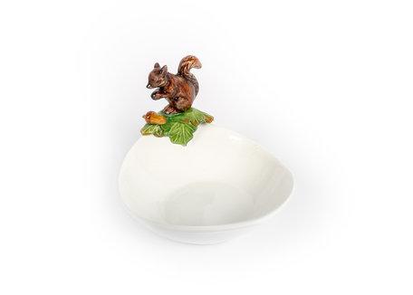 Ovale schaal met eekhoorn en eikel 24 x 18 x 16 cm | FL88 | Piccobella