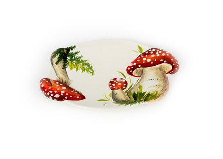 Schaal ovaal paddenstoel rood witte stippen medium 32 x 22 cm | RW02 | Piccobella