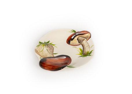Serveer schaal plat bruine paddenstoelen 23  x 20 cm | RWB08 | Piccobella