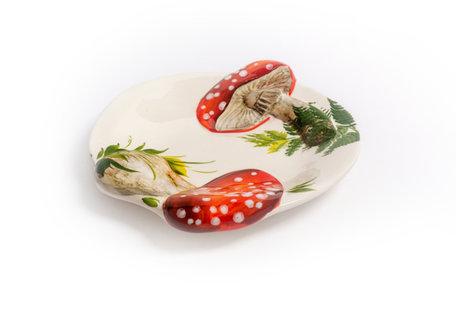 Bord schaal paddenstoel rood witte stippen klein 23 x 20 cm klein | RW01| Piccobella