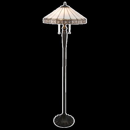 Vloerlamp Tiffany ø 51*160 cm E27/max 2*60W Wit | 5LL-5210 | Clayre & Eef