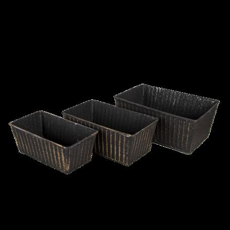 Planthouder (set van 3) 26*17*12 / 23*14*10 / 21*11*9 cm Zwart | 6Y4626 | Clayre & Eef