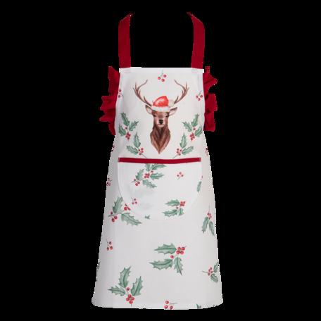 Keukenschort kind 48*56 cm Wit | HCH41K | Clayre & Eef