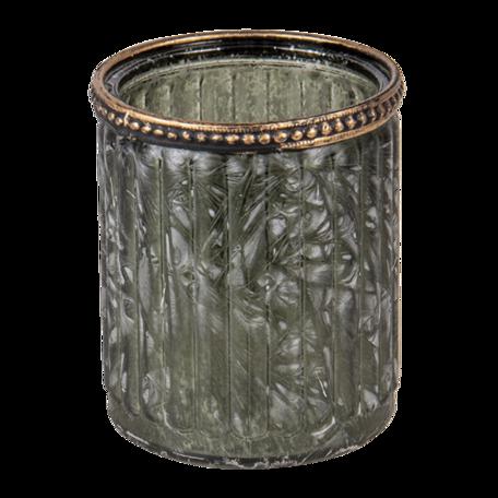 Waxinelichthouder ø 8*9 cm Groen   6GL3355   Clayre & Eef