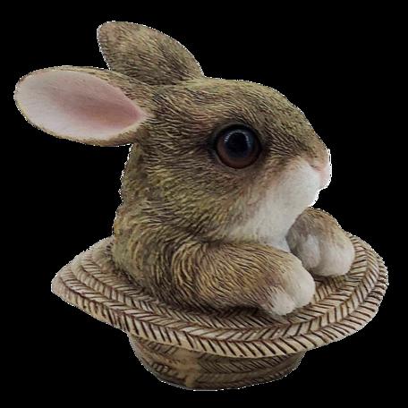Decoratie konijn 9*9*9 cm Bruin | 6PR3344 | Clayre & Eef