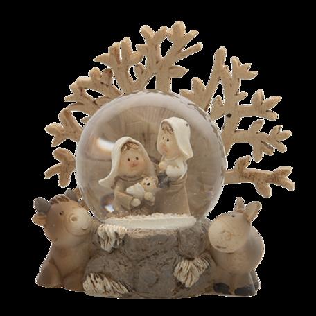 Kerstgroep 9*5*8 cm Bruin | 6PR4742 | Clayre & Eef