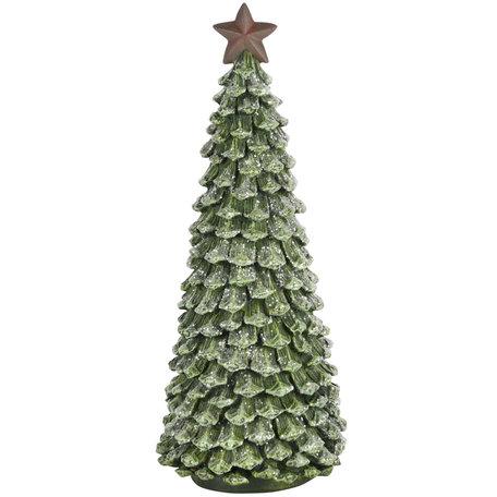 Decoratie kerst boom met ster groen 30x12x12 cm| A205030 | Dekoratief