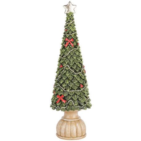 Decoratie kerstboom met ster en strik 35x12x12 cm| A205110 | Dekoratief