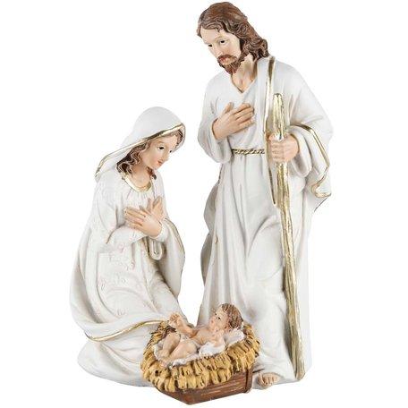 Kerststal Jozef Maria en Jezus 10x8x15 cm | A215198 | Dekoratief