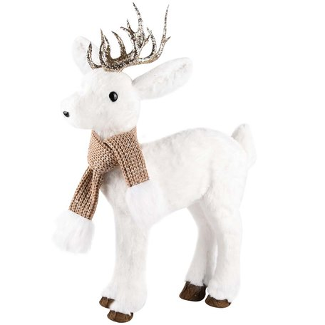 Hert staand met sjaal 31x16x50 cm | A215366 | Dekoratief