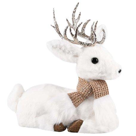 Hert liggend met sjaal 31x15x32 cm | A215367 | Dekoratief