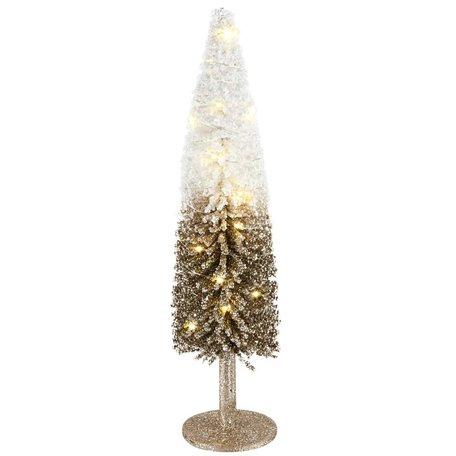 Decoratie kerstboom op voet met LED verlichting 17x17x43 cm | A215623 | Dekoratief