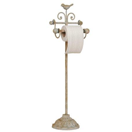 Toiletpapierhouder 22*10*69 cm Creme | 40441 | Clayre & Eef