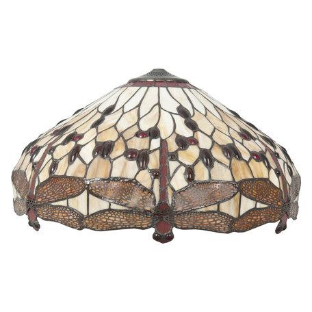 Lampenkap Tiffany ø 49*28 cm Bruin | 5LL-1102 | Clayre & Eef