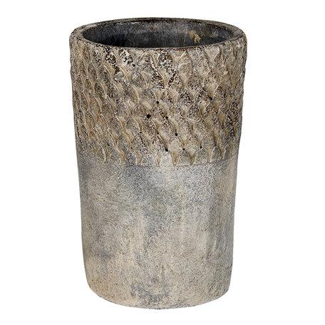 Bloempot ø 12*19 cm Grijs | 6TE0365S | Clayre & Eef