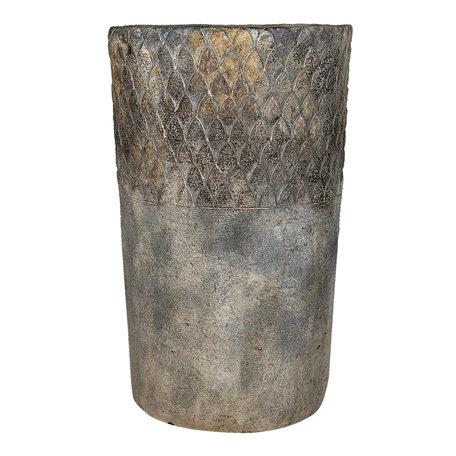 Bloempot ø 24*39 cm Grijs | 6TE0366 | Clayre & Eef