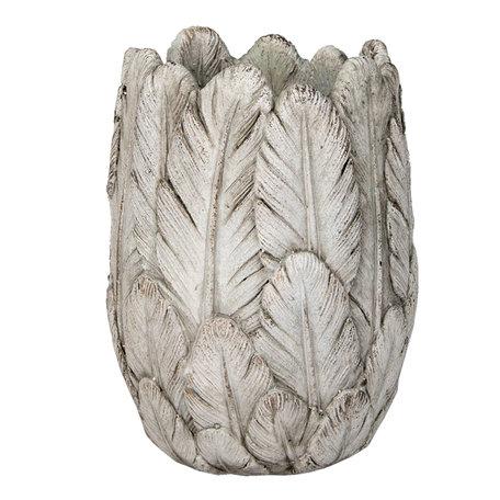 Bloempot ø 15*21 cm Grijs | 6TE0367 | Clayre & Eef
