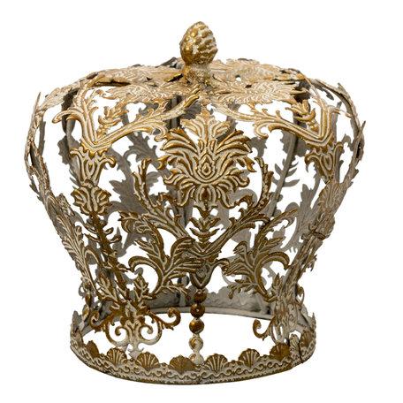 Decoratie kroon ø 17*17 cm Koperkleurig   6Y4641   Clayre & Eef