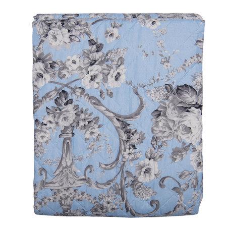 Bedsprei 140*220 cm Blauw | Q192.059 | Clayre & Eef