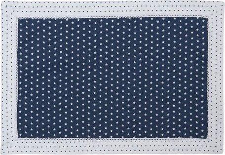 Placemat ( set van 6 ) 48*33 cm wit blauw | TLS40BL | Clayre & Eef