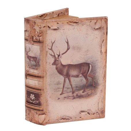 Boekenkluis decoratieboek opbergdoos 15 cm rendier  | 10972600 | Dutch Style