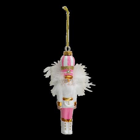 Kerstbal notenkraker 4*4*17 cm Roze | 6GL3319 | Clayre & Eef