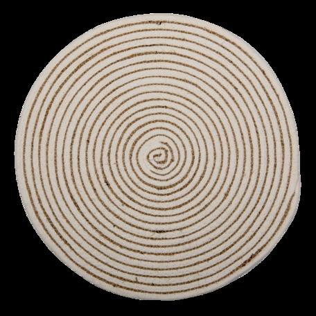 Placemat ø 40*1 cm cm Wit | 6RO0529 | Clayre & Eef