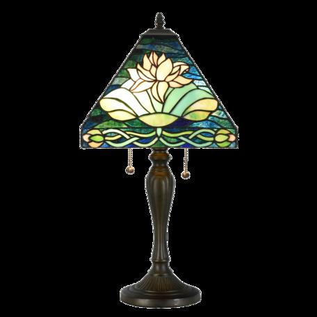 Tafellamp Tiffany 43*43*62 cm E27/max 2*60W Groen | 5LL-6155 | Clayre & Eef