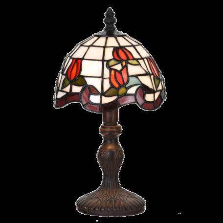 Tafellamp Tiffany ø 18*32 cm E14/max 1*25W Rood | 5LL-6156 | Clayre & Eef
