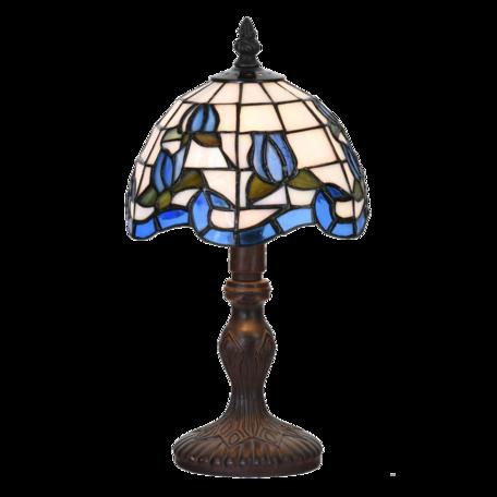 Tafellamp Tiffany ø 18*32 cm E14/max 1*25W Blauw | 5LL-6158 | Clayre & Eef