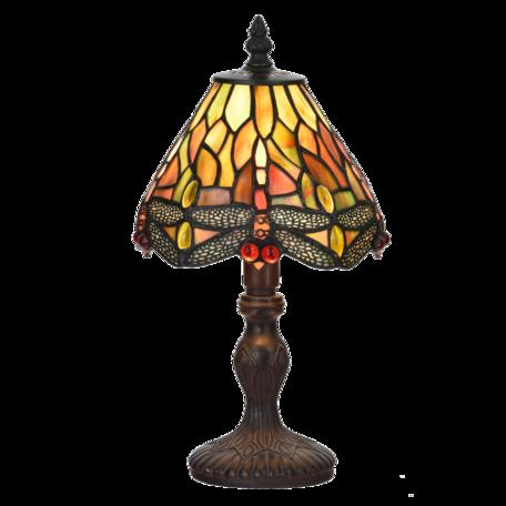 Tafellamp Tiffany ø 18*32 cm E14/max 1*25W Geel | 5LL-6159 | Clayre & Eef