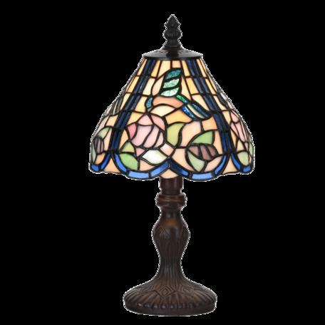 Tafellamp Tiffany ø 18*32 cm E14/max 1*25W Blauw | 5LL-6160 | Clayre & Eef