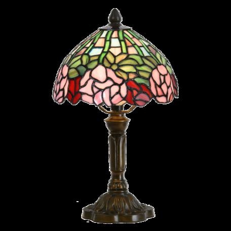 Tafellamp Tiffany ø 21*39 cm E14/max 1*25W Groen | 5LL-6161 | Clayre & Eef