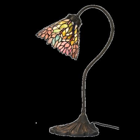 Tafellamp Tiffany ø 20*51 cm E14/max 1*40W Roze | 5LL-6162 | Clayre & Eef