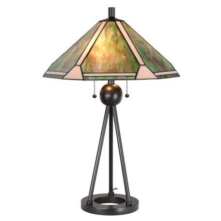 Tafellamp Tiffany ø 50*73 cm E27/max 2*60W Groen | 5LL-6165 | Clayre & Eef