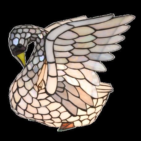 Tafellamp Tiffany 19*15*22 cm E14/max 1*25W Grijs | 5LL-6167 | Clayre & Eef
