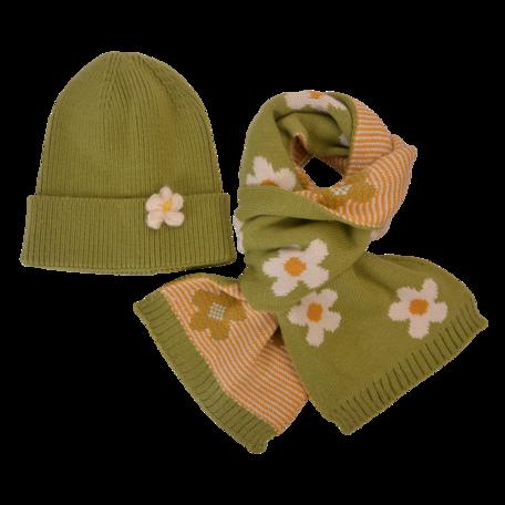 Kinder sjaal / muts  Groen   MLLLSH0002GR   Clayre & Eef